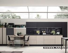 Cucina lineare in legno bianca Componibile a prezzo scontato
