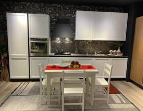 Cucina lineare in legno bianca Frame a prezzo scontato