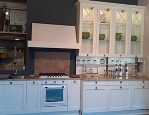Cucina lineare in legno bianca Frida a prezzo ribassato