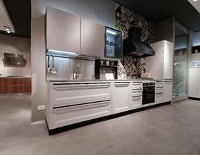 Cucina lineare in legno bianca Tablet - 617 a prezzo scontato