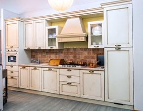 Cucina lineare in legno bianca Valencia a prezzo scontato