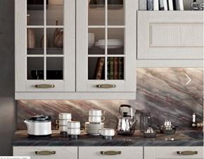 Cucina lineare in legno cachemire Asolo classico country a prezzo ribassato. offerta promozionale