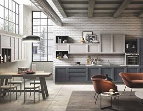 Cucina lineare in legno grigio Elsa a prezzo scontato