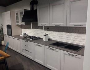 Cucina lineare in legno grigio Gea a prezzo scontato