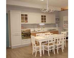 Cucina lineare in legno rovere chiaro Bolgheri a prezzo ribassato