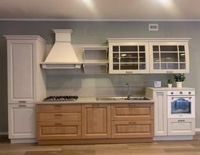 Cucina lineare in legno rovere chiaro Bolgheri a prezzo scontato