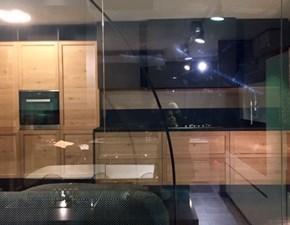 Cucina lineare in legno rovere chiaro Ininity - legno rovere nodato  a prezzo scontato