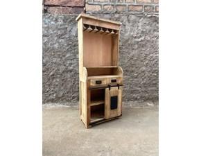 Cucina lineare in legno rovere chiaro Mobile uso credenza  bar cucina stile newport  a prezzo ribassato