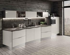 Cucina lineare in nobilitato grigio Paragon a prezzo ribassato