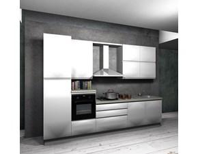 Cucina lineare in polimerico lucido a prezzo scontato 40%