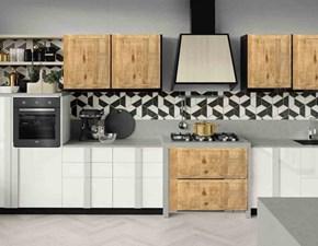 Cucina lineare in polimerico lucido a prezzo scontato