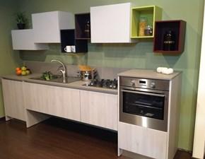 Cucina lineare in polimerico opaco a prezzo ribassato 69%