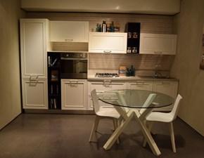 Cucina lineare in polimerico opaco bianca Vega a prezzo ribassato