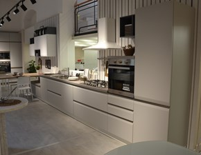 Cucina lineare in polimerico opaco grigio Dafne a prezzo ribassato