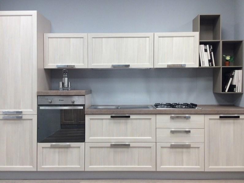 Cucina lineare in stile contemporaneo con elettrodomestici inclusi ...