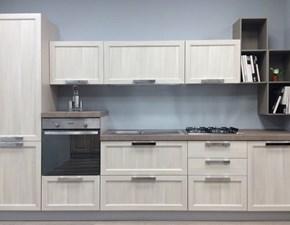 Cucina lineare in stile contemporaneo con elettrodomestici inclusi SCONTATA