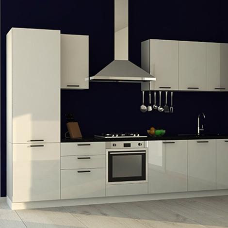 Cucina Lineare In Stile Moderno Con Elettrodomestici Inclusi Nuova A Prezzo Scontato Cucine A