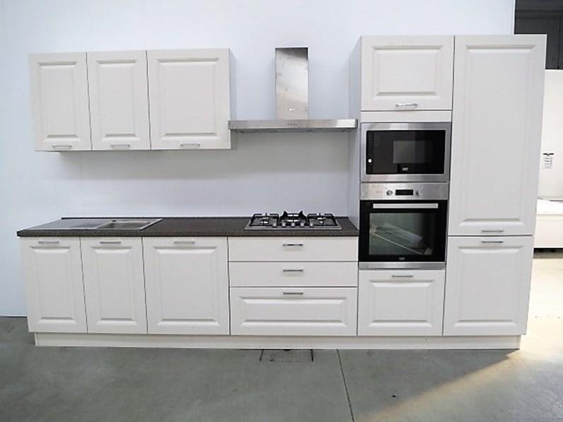 Cucina lineare in stle contemporaneo con 5 elettrodomestici inclusi ...