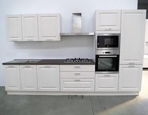 Cucina lineare in stle contemporaneo con 5 elettrodomestici inclusi in Outlet