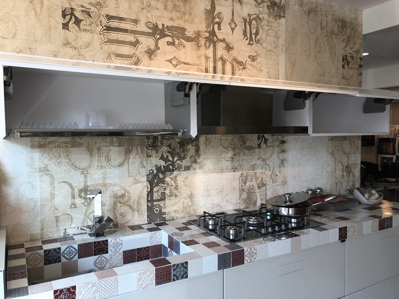 Cucina lineare in vetro lago a prezzo ribassato 50 - Vetro temperato cucina prezzo ...