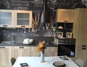 Cucina lineare industriale Creo kitchens kyra telaio vintage Creo kitchens a prezzo scontato