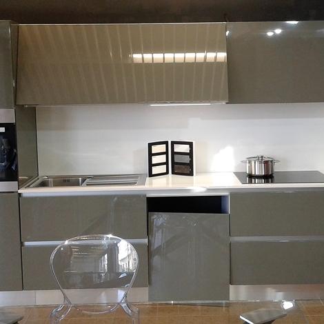 Cucina laccata lucida ral 7003 grigio musco scontato del - Cucine laccate lucide ...