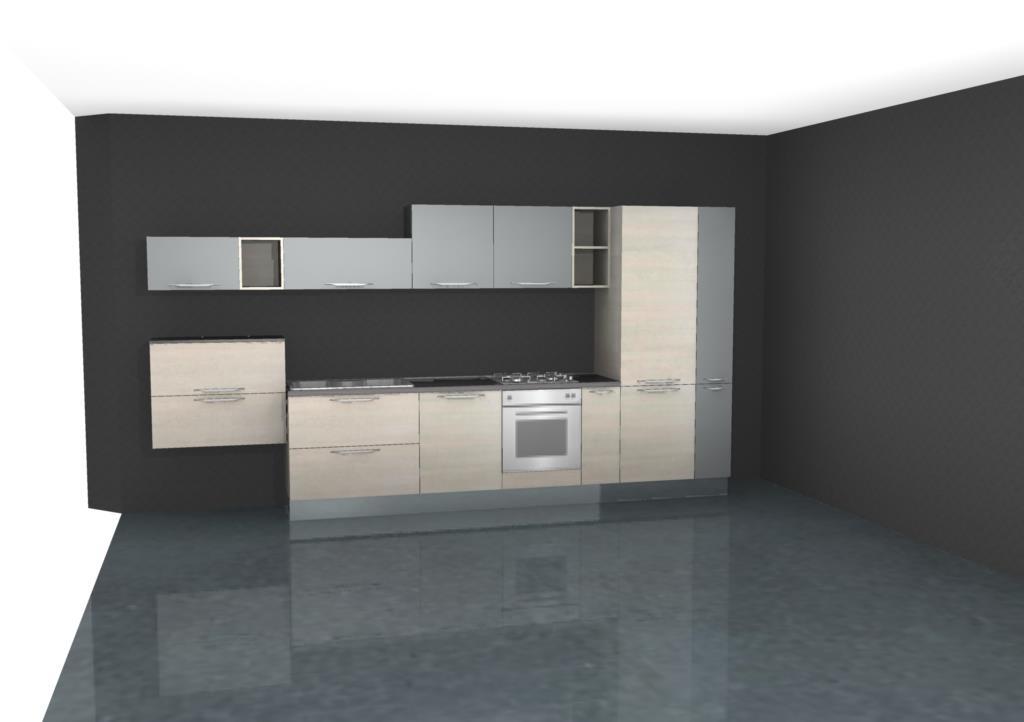 Cucina lineare moderna bicolore offerta convenienza for Cucina lineare offerta
