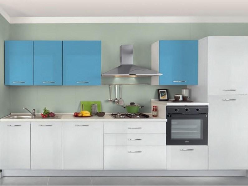 Cucina lineare moderna chiara vari colori artigianale a prezzo scontato - Colori cucina moderna ...