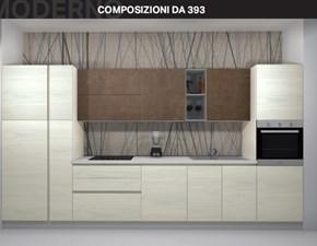 Cucina lineare moderna Composizione da 393 Arrex a prezzo scontato