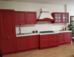 Cucina lineare moderna Country red Gm cucine a prezzo ribassato