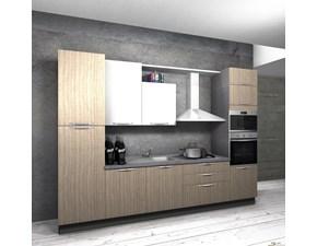 Cucina lineare moderna Cucina componibile mod.marylin in laminato bianco scontata del 40% Aran cucine a prezzo ribassato