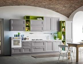 Cucina lineare moderna Cucina mod.alba in legno laccato grigio luce scontata del 40% Essebi cucine a prezzo ribassato
