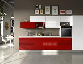 Cucina lineare moderna Cucina mod.eva in polimerico lucido scontata del 30% Aran cucine a prezzo scontato