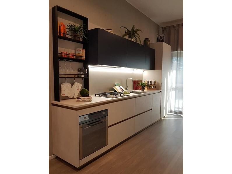 Cucina lineare moderna De linea Scavolini a prezzo scontato