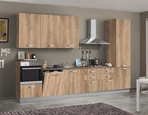 Cucina lineare moderna Emma Artigianale a prezzo ribassato