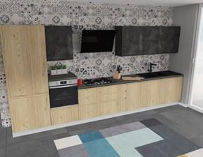 Cucina lineare moderna Jey Creo kitchens a prezzo ribassato