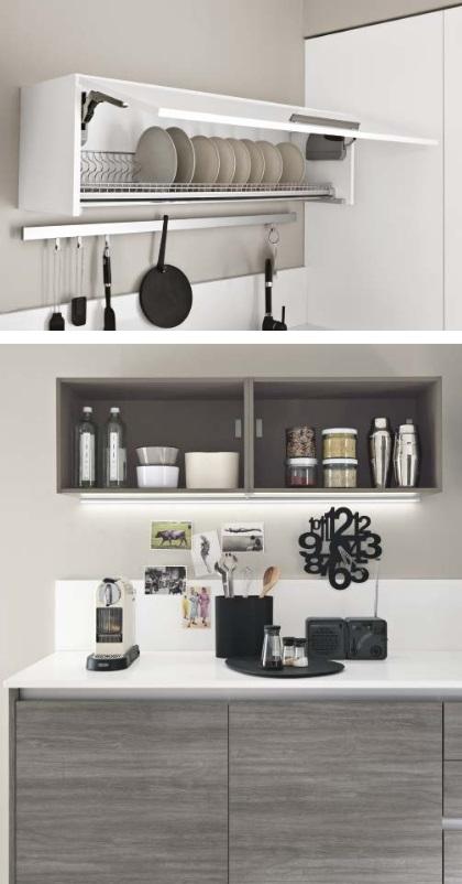 Cucina lineare moderna linea in offerta completa con for Cucina lineare offerta