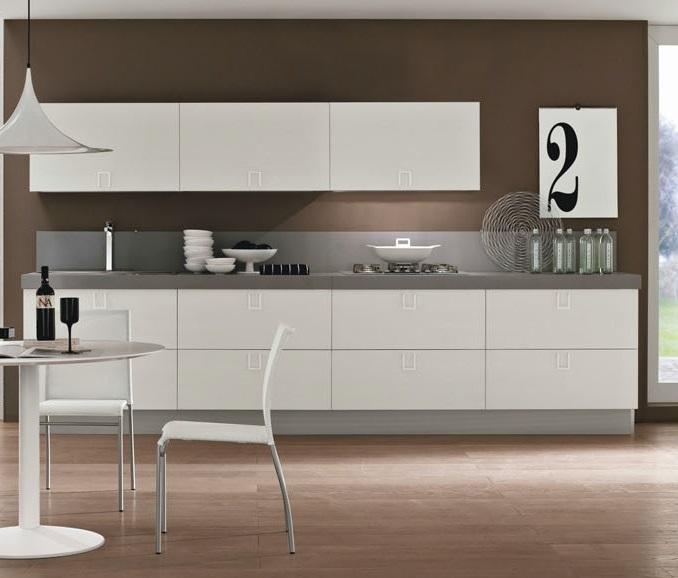 Cucina lineare moderna maniglia cromata offerta for Cucina moderna wellington menu