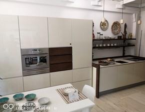 Cucina lineare moderna Quadra 9010 Artigianale a prezzo ribassato