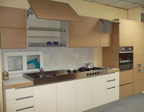 Cucina lineare moderna Sistema Antares a prezzo ribassato