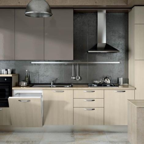 Cucina lineare offerta moderna anta sabbia e tranche - Ante cucina mondo convenienza ...