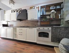 Cucina lineare provenzale Cuina vintage shabby  in legno Nuovi mondi cucine a prezzo scontato