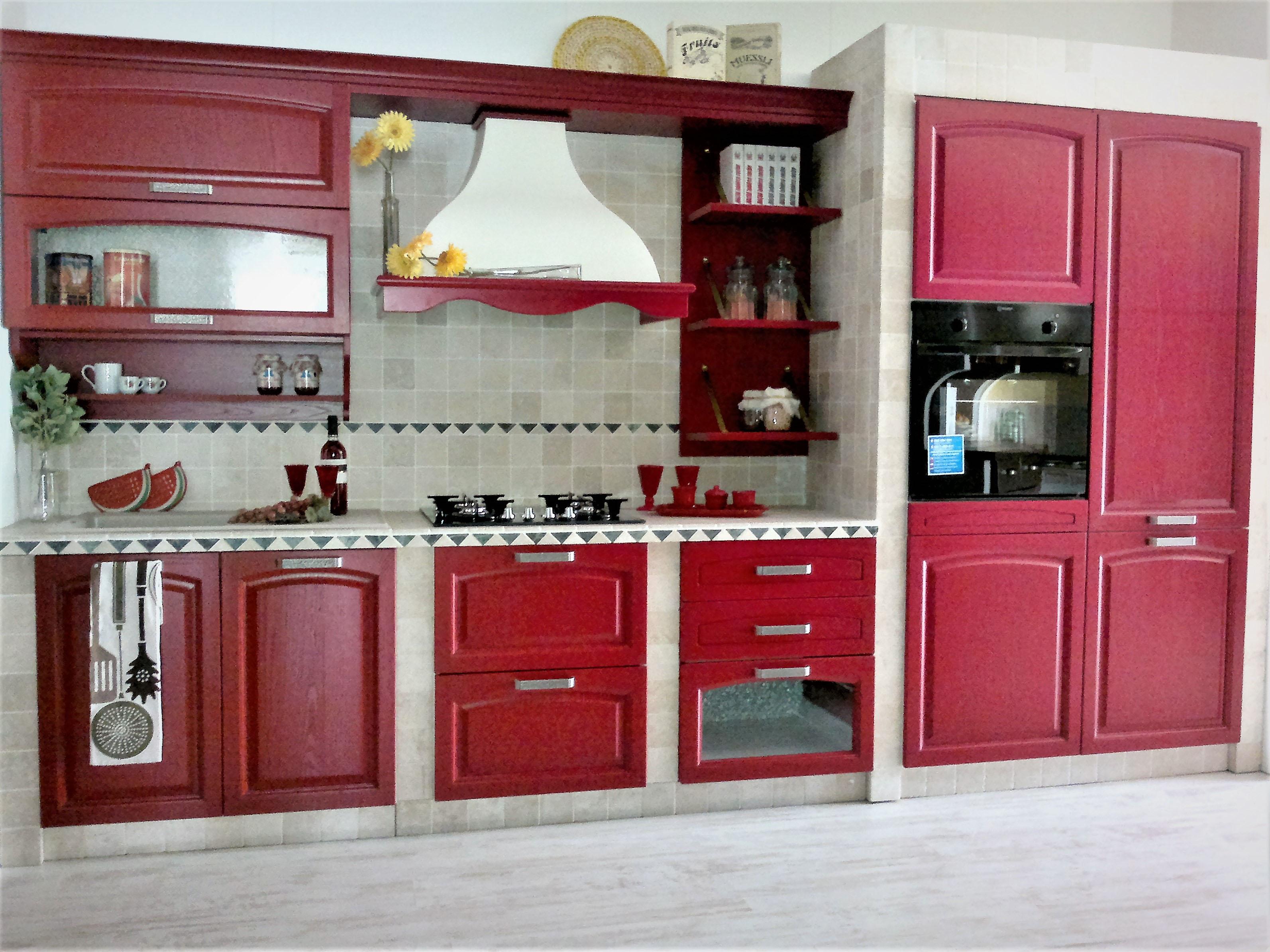 Best cucina rossa laccata photos ideas design 2017 for Cucine rosse