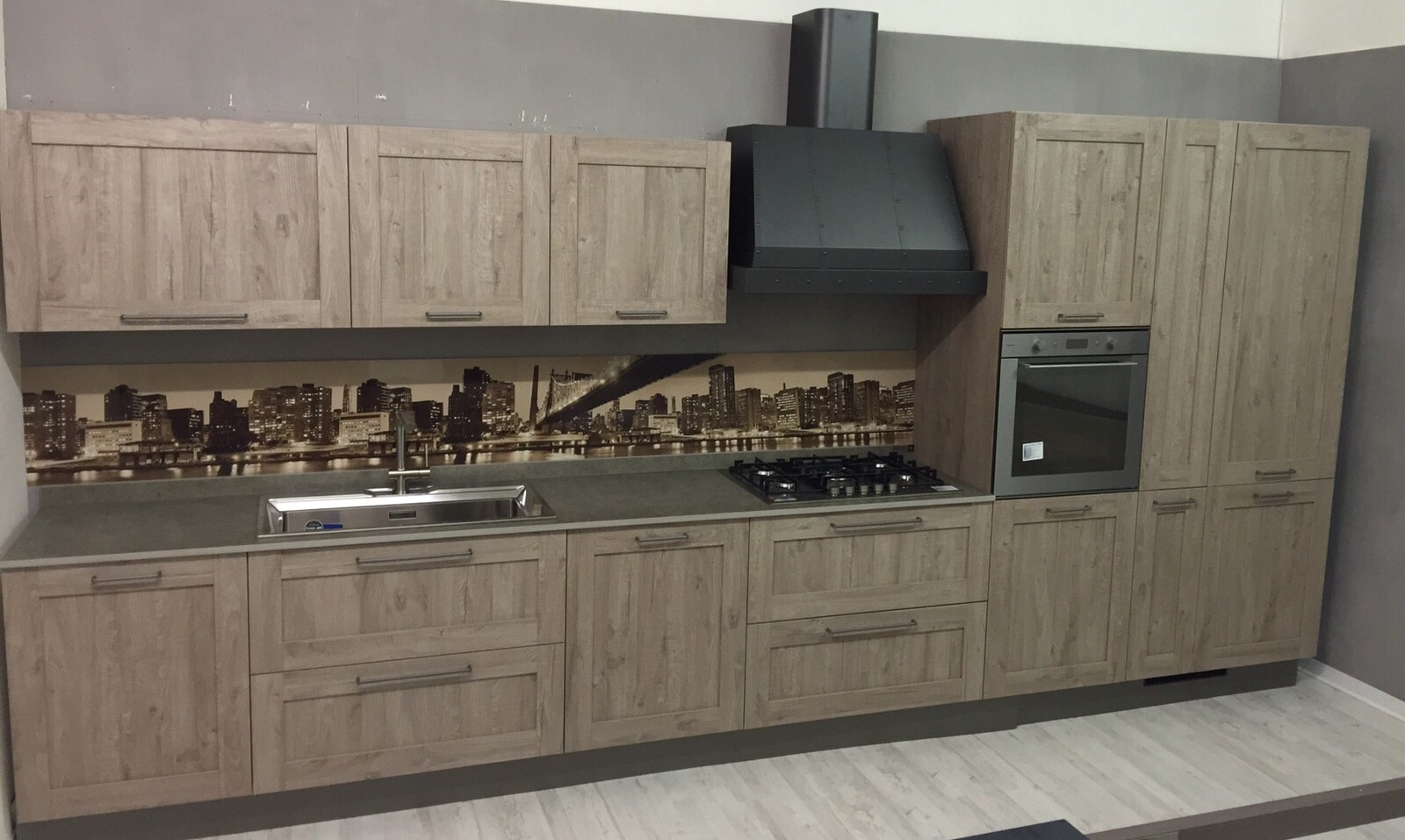 Cucina lineare Stosa vintage modello city completa di ...