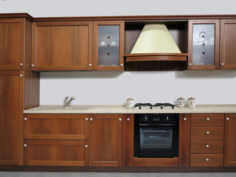 Cucina lineare U801 arte povera Artigianale con uno sconto vantaggioso