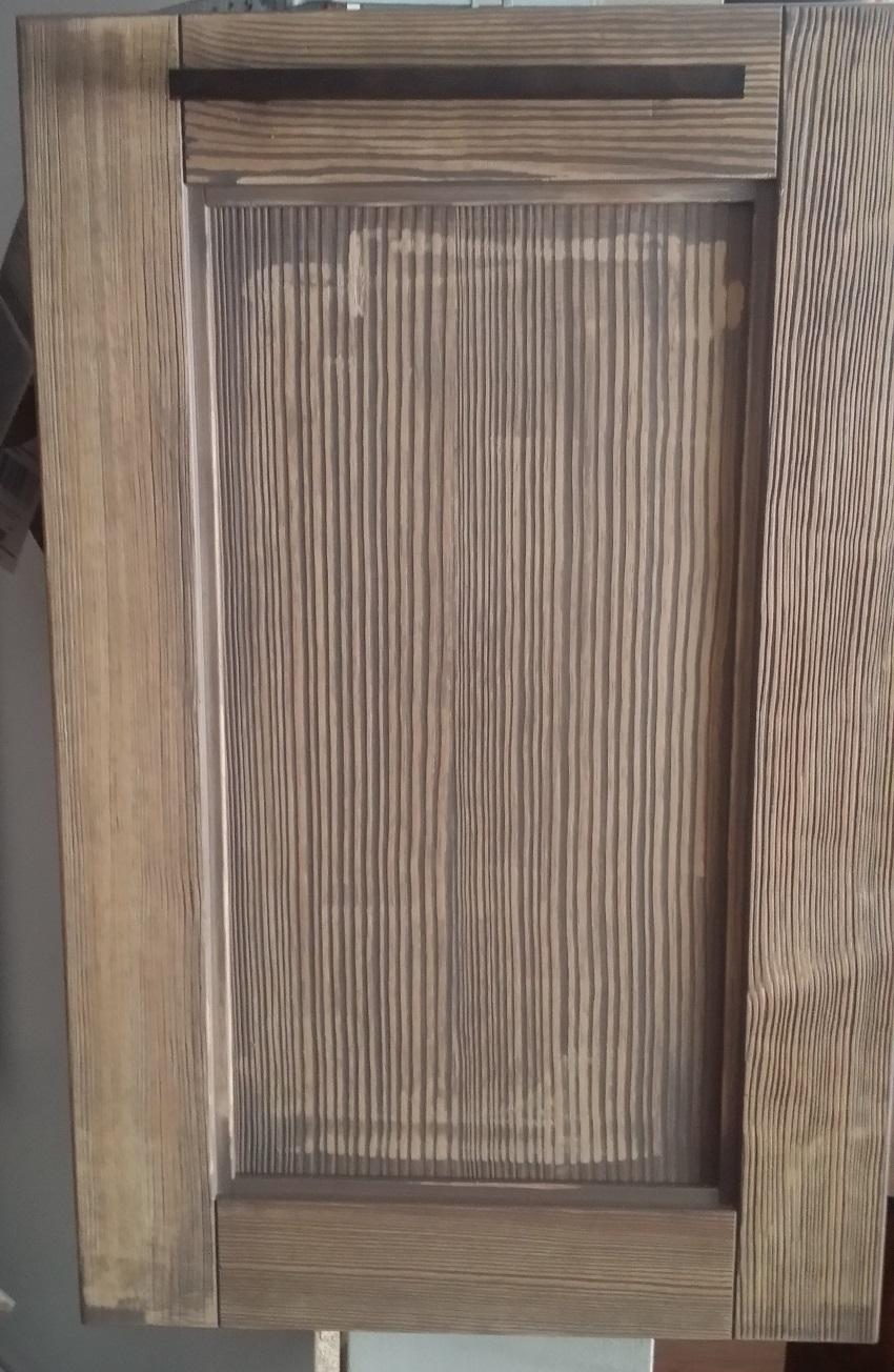cucina lineare vintage industrial in offerta in legno completa di ...