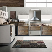 cucina vintage industrila lineare con colonne dispensa  offerta outlet