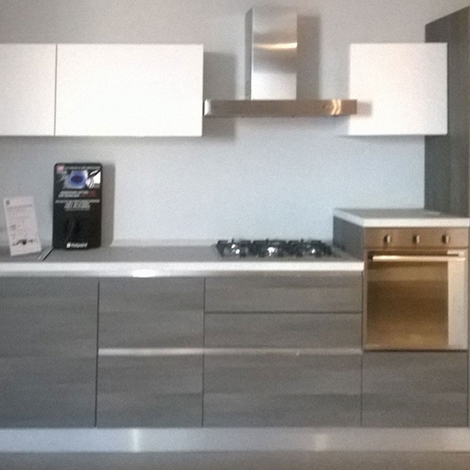 Cucine Moderne Bianche E Grigie Lube