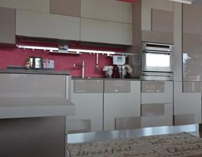 cucina Lube con penisola, completa di elettrodomestici
