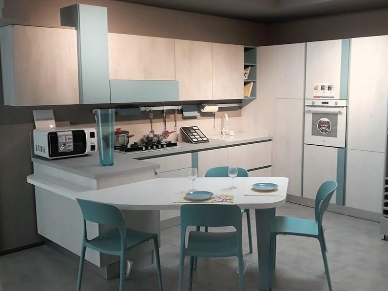 Cucina lube cucine design ad angolo con penisola mod immagina offerta - Cucine moderne con isola lube ...